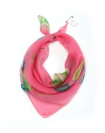 G 玫红色心心相连玫瑰花丝巾 大号 G官网特价5折起图片