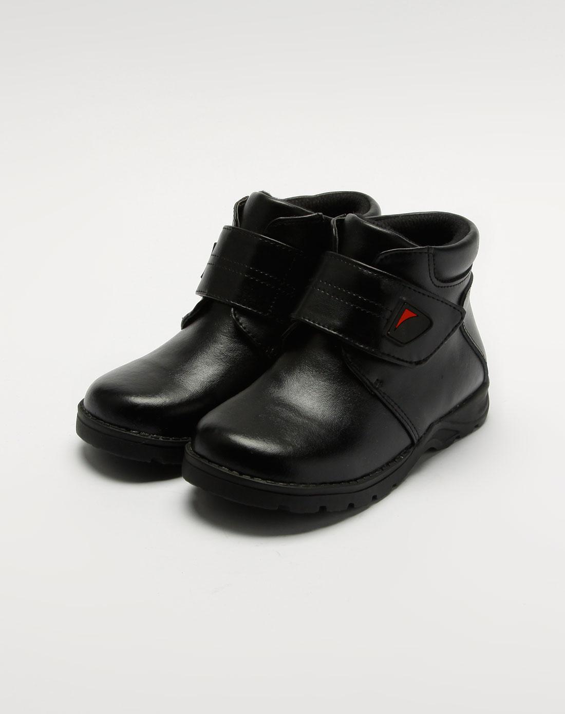 童鞋专场斯乃纳 男童黑色低帮休闲皮鞋