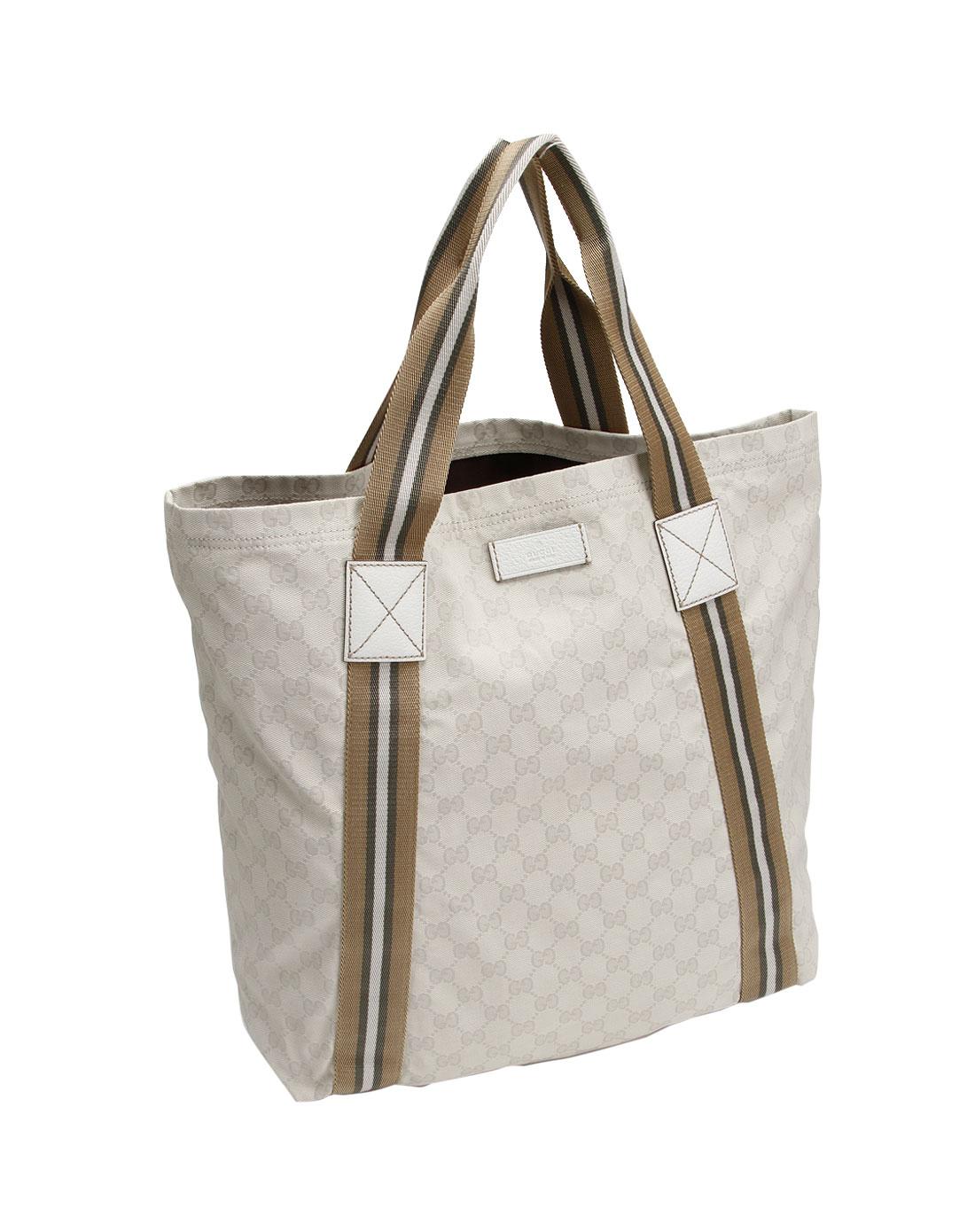 女款米白色淑女手提包