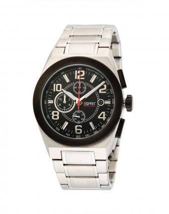 ESPRIT男款黑 银色个性手表 Esprit Garona手表混合专场特价4.5折图片