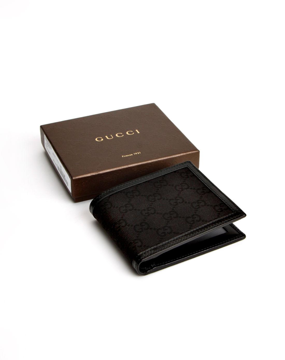 男款黑色logo横式钱包