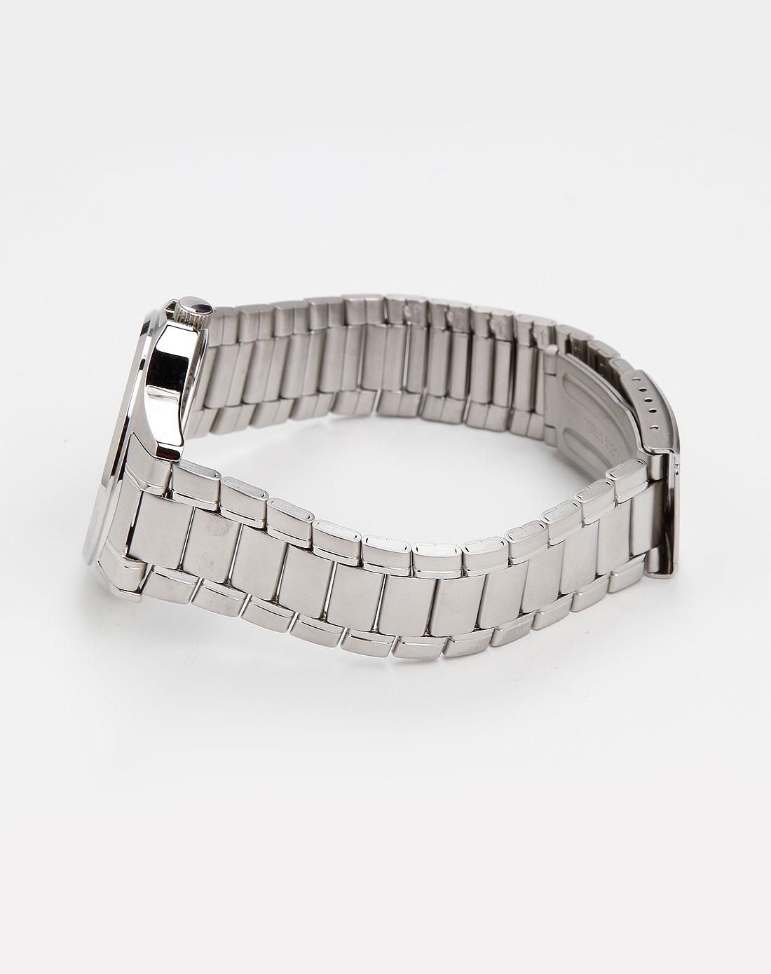 男款银 蓝色时尚三眼手表 卡西欧手表专场特价3.8折起