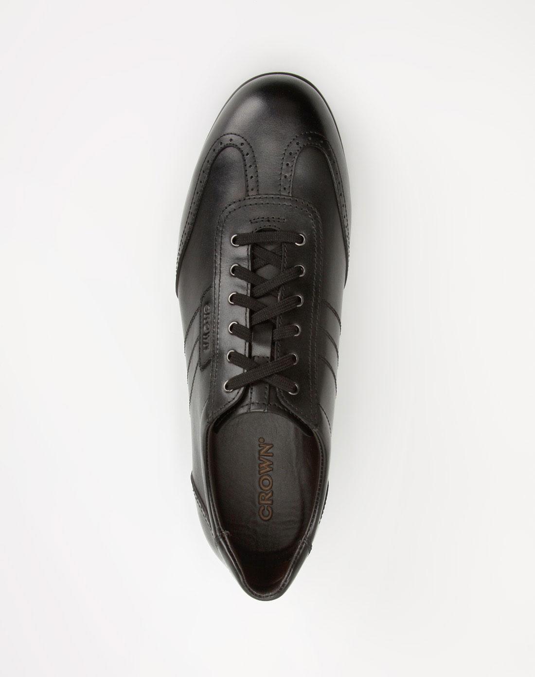 黑色商务休闲皮鞋10_皇冠crown-男鞋官网特价2-2
