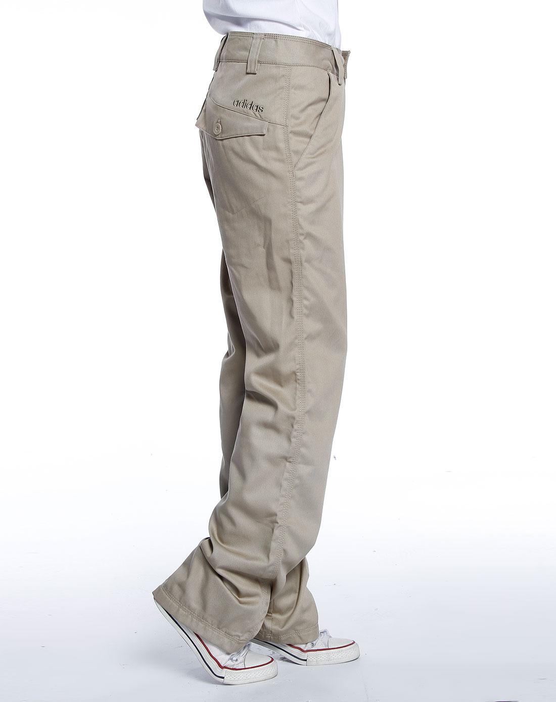 男款卡其色休闲长裤2