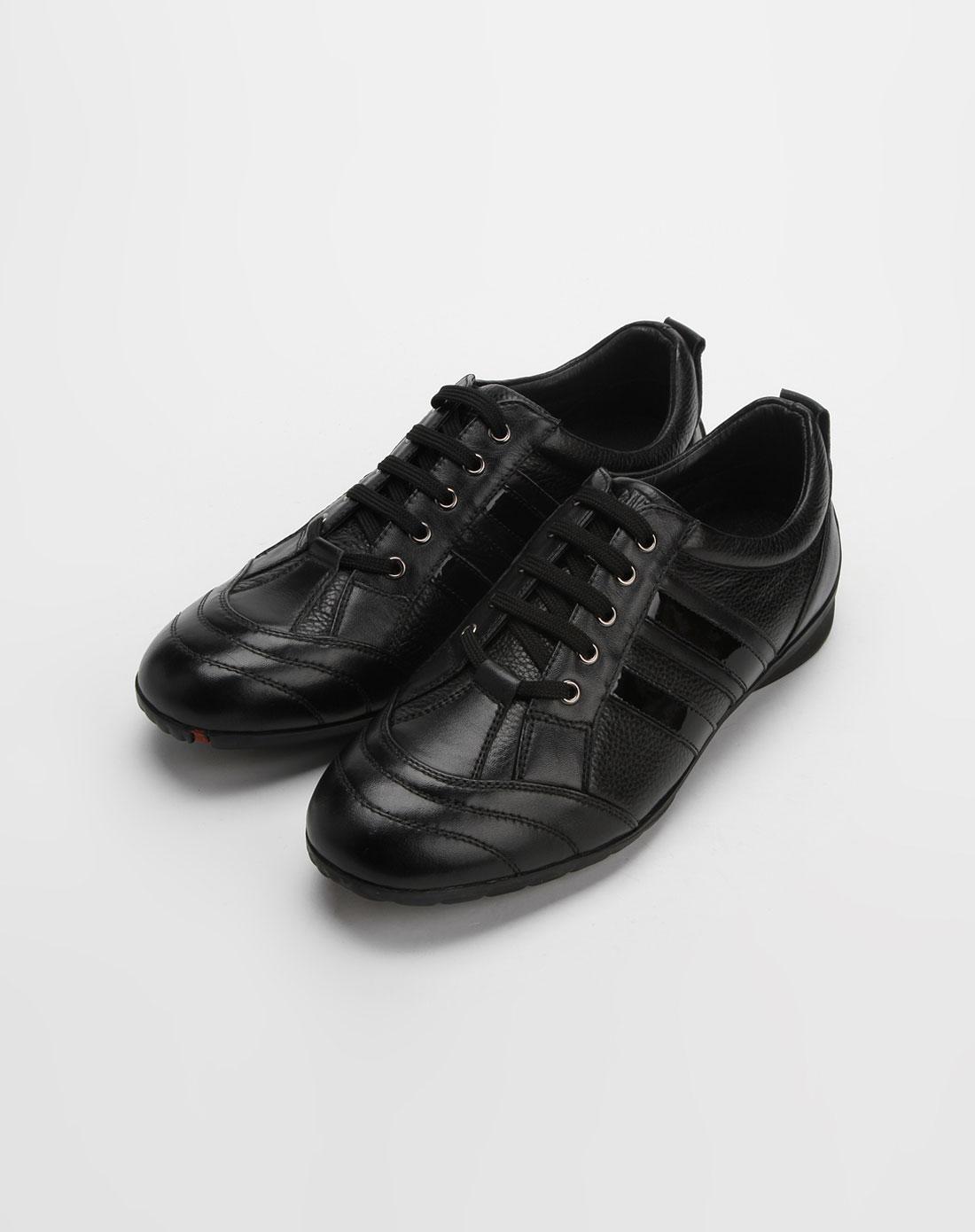 黑色休闲皮鞋_金利来goldlion-男鞋官网特价3.5-4