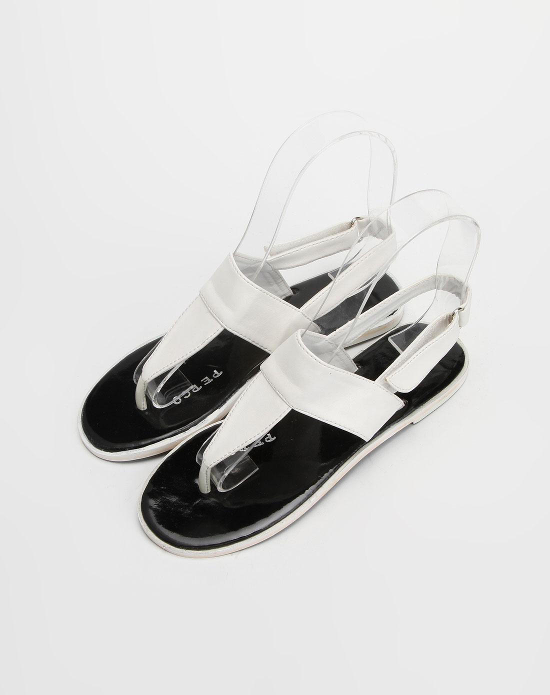 女童白色休闲凉鞋_小猪班纳官网特价2.5-4