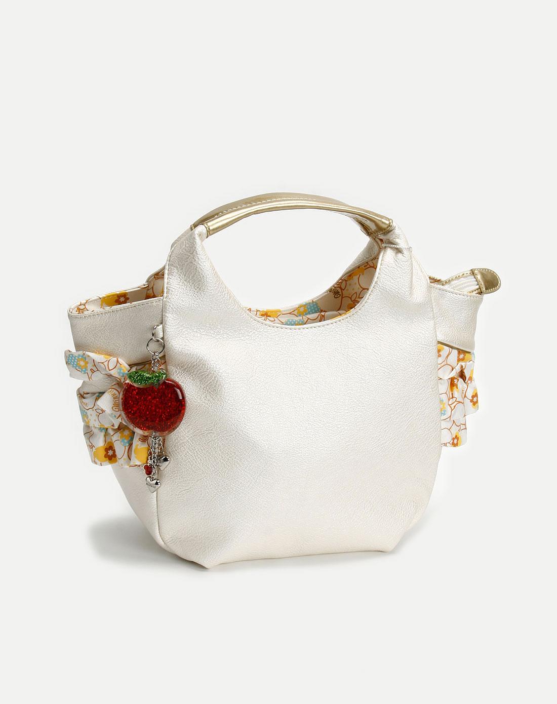女款米白色简约手挽包