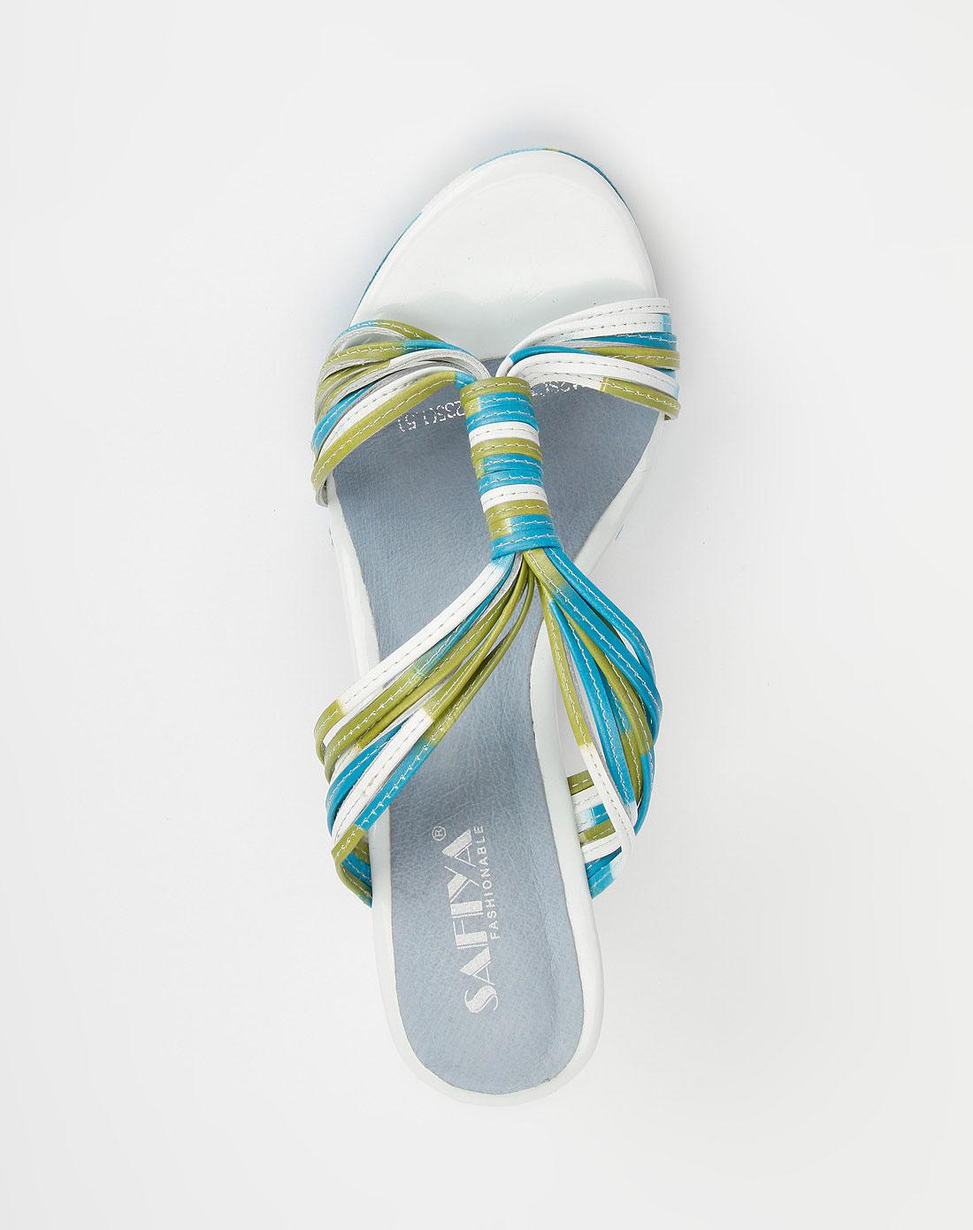 蓝/白色高跟凉鞋_索菲亚官网特价2.3-4.5折