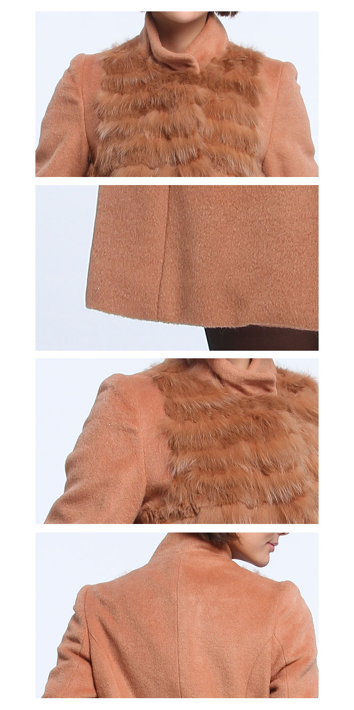 x.驼色长袖高贵时尚大衣ca1111631-16