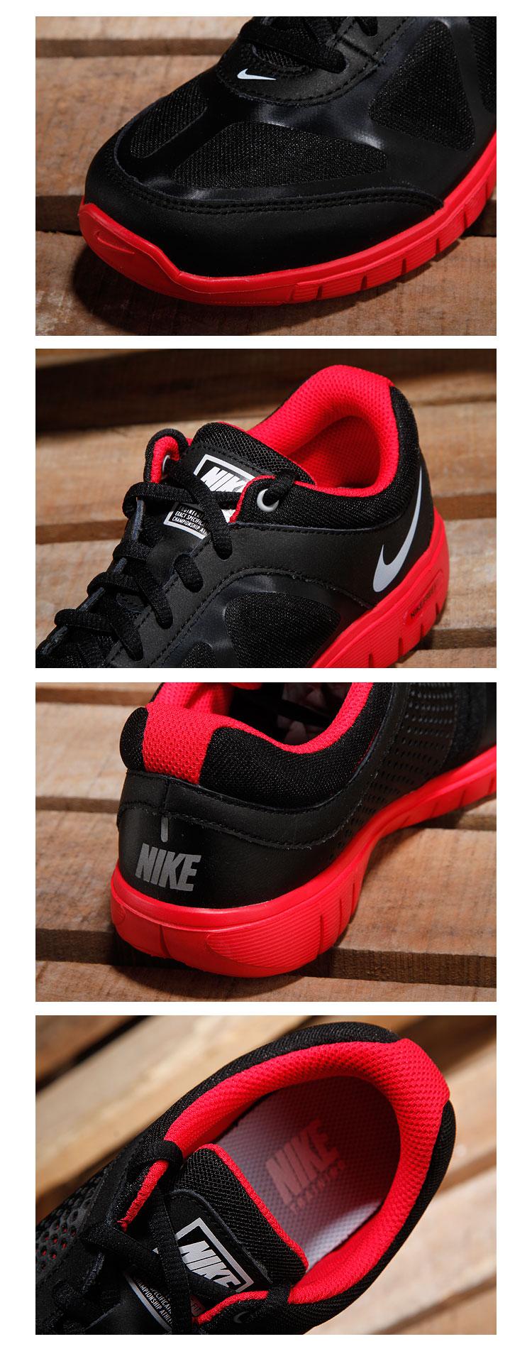 耐克nike女款黑/玫红色休闲活力绑带运动鞋451901