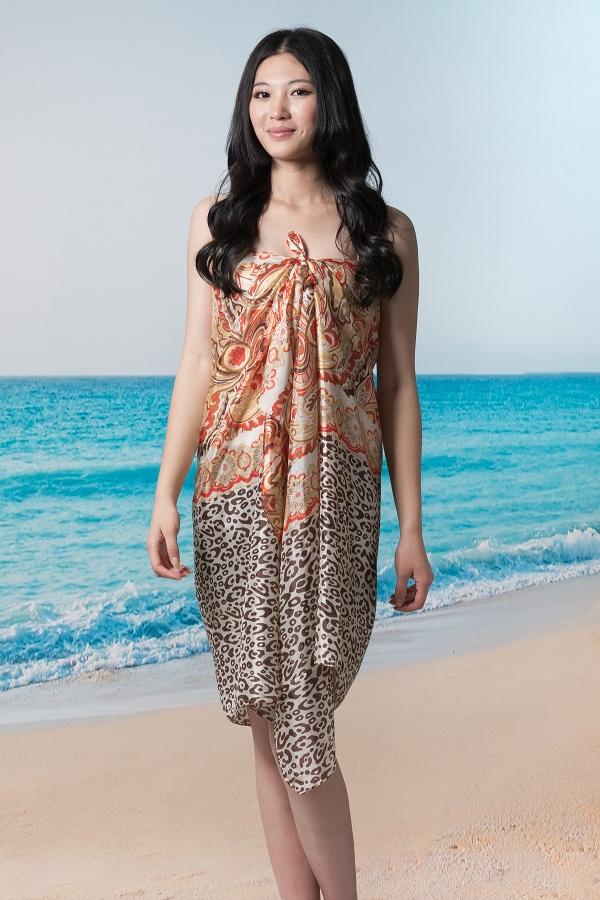 韵女款热情迈阿密沙滩巾
